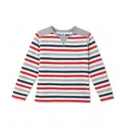 Boys` striped T-shirt
