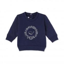 Baby boy`s dual material sweatshirt