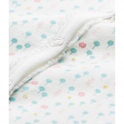 Baby girl's heart-print sleeper