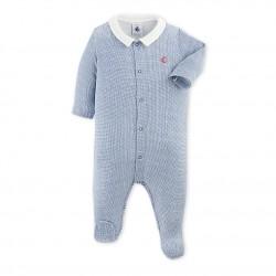 Baby boy`s checkered pajamas