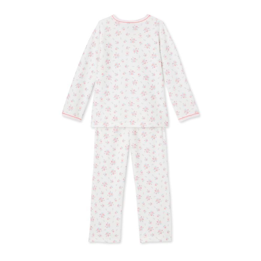 28796eaa3 Baby girl s footless sleeper in milleraies stripes - www.petit-bateau.bg