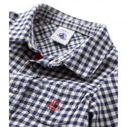 Baby boy`s plaid shirt