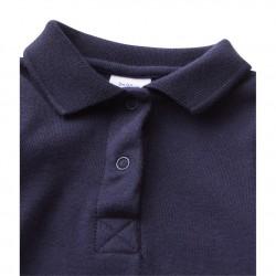 Baby boy`s bodysuit with collar
