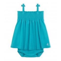 Girl's one-piece polka dot swimsuit
