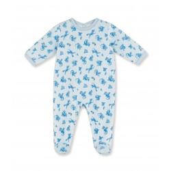 Baby boy dragon print sleepsuit