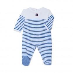 Baby boy decorative striped sleepsuit