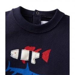 Baby boys` silkscreen print sweatshirt