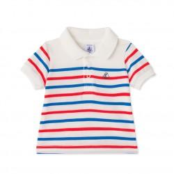 Baby boys` striped polo shirt