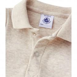 Baby boys` bodysuit with collar