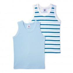 Pack of 2 boy`s vest tops