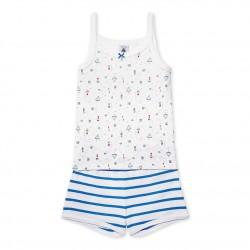 Girls` print short pyjamas