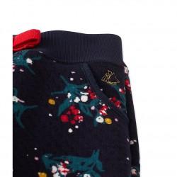 Панталон за бебе момиче в двоен цветен памук