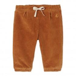 Панталон за бебе момиче от еластичен велур