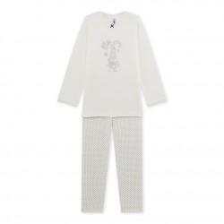 Пижама за момиче с мотив принт