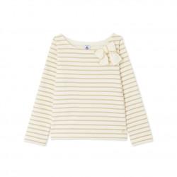 Блуза за момиче с блестящи райета
