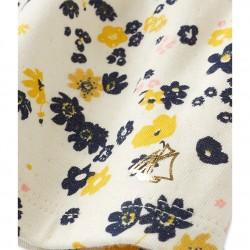 Блуза с пайети от двоен плат и принт за бебе момиче