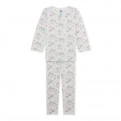 Пижама за момиче в цветен принт