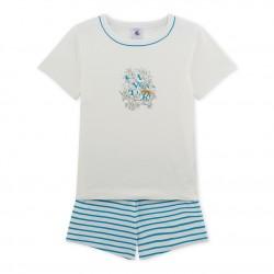 Пижама за момче в цветен принт