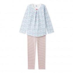 Пижама за момиче в флорален принт