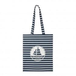 Дамска водоустойчива пазарска чанта в райе