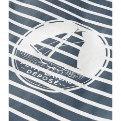 Women's striped waterproof shopping bag