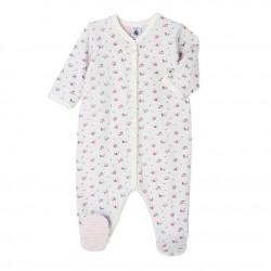 Пижама за бебе момиче от двоен плат с цветен принт