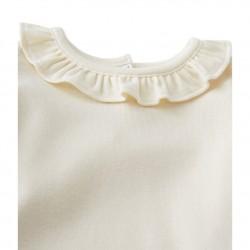 Блуза с яка за бебе момиче