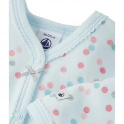 Пижама за бебе момиче от велур