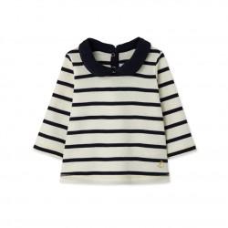 Блуза за бебе момиче в райе