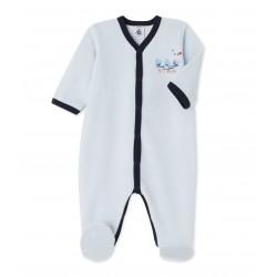 Unisex пижама за бебе от хавлиен велур