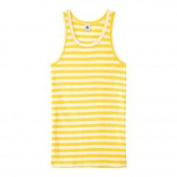 Women`s vest top in heritage striped rib