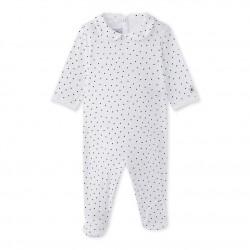 Baby girl`s heart-print sleepsuit