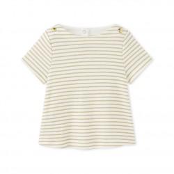 Тениска за бебе момиче в райе