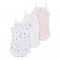 К-т 3бр.бодита с тънки презрамки за бебе момиче