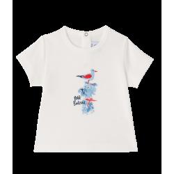 Baby boys` silkscreen print T-shirt