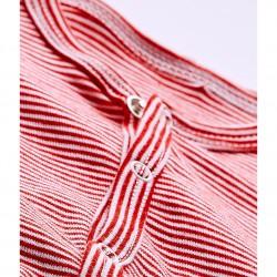 Baby boy`s milleraies stripe footless sleepsuit