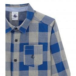 Риза в каре за момче от поплин