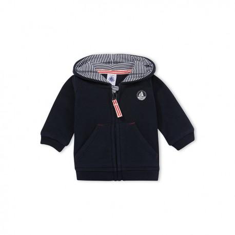 Baby boys' zipped fleece sweatshirt
