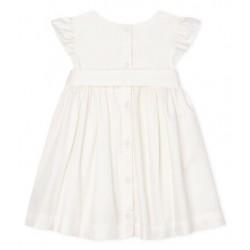Baby Girls` Satin Short-Sleeved Dress