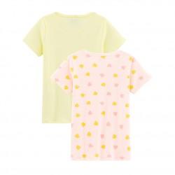 К-т две тениски с къс ръкав за момиче