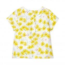 Блуза за бебе момиче от лен