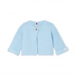 Бебешка жилетка, изработена от 100% памучна плетка