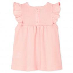 Блуза с къс ръкав за бебе момиче