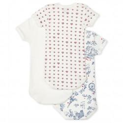 К-т 3 бодита с къс ръкав за бебе момиче