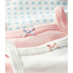 К-т 3 бодита с тънка презрамка за бебе момиче