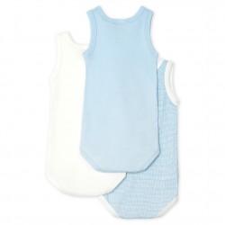 К-т 3 бодита без ръкави за бебе момче