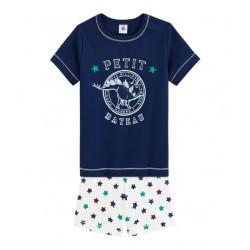 Къса пижама от памук/лен за момче