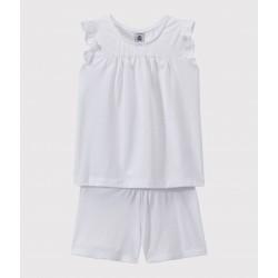 Къса пижама от фин памук за момиче